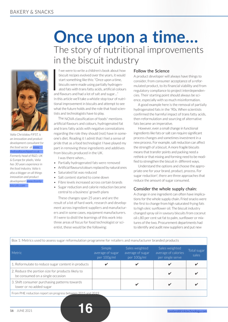 photo of the article in Food and drink technology